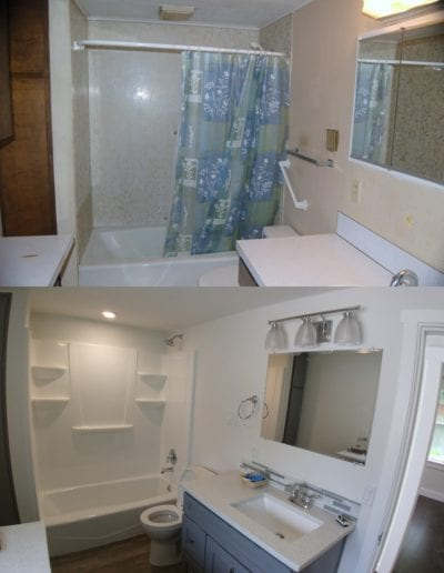 bathroom remodeling kelso before and after